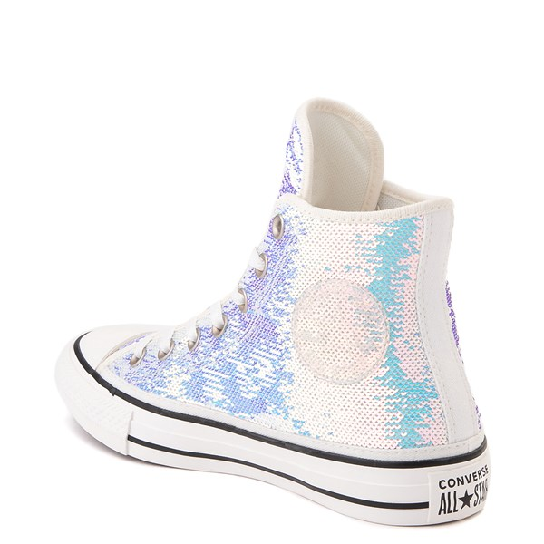 alternate view Converse Chuck Taylor All Star Hi Sequin Sneaker - SilverALT2