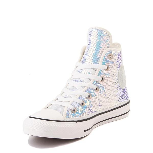 alternate view Converse Chuck Taylor All Star Hi Sequin Sneaker - SilverALT3