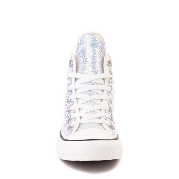 alternate view Converse Chuck Taylor All Star Hi Sequin Sneaker - SilverALT4