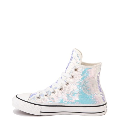 Alternate view of Converse Chuck Taylor All Star Hi Sequin Sneaker - Silver