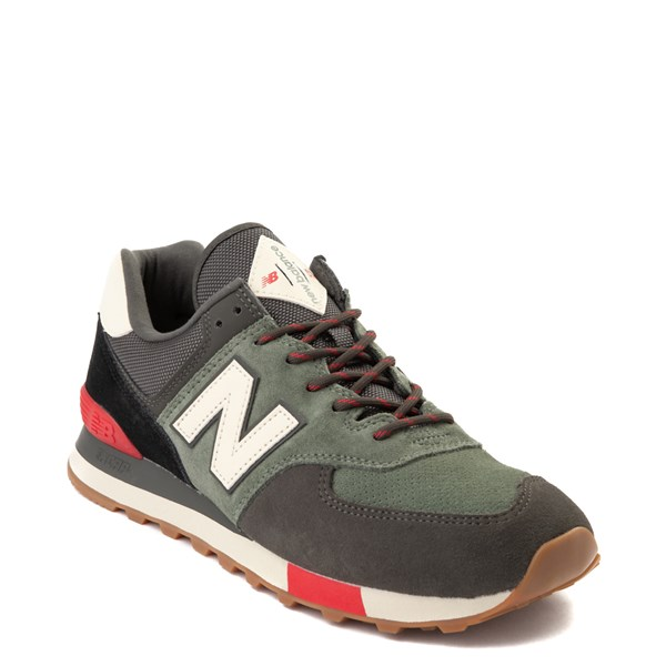 alternate view Mens New Balance 574 Athletic Shoe - Olive / Black / RedALT1