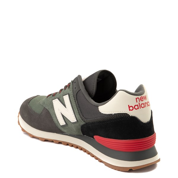 alternate view Mens New Balance 574 Athletic Shoe - Olive / Black / RedALT2