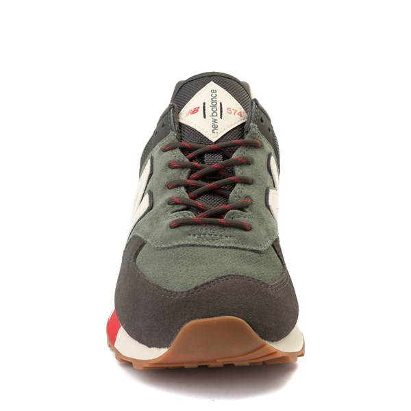 alternate view Mens New Balance 574 Athletic Shoe - Olive / Black / RedALT4