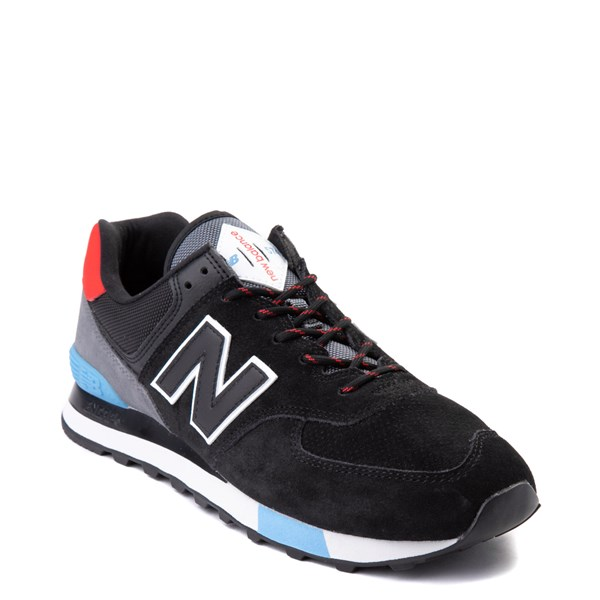 alternate view Mens New Balance 574 Athletic Shoe - Black / Gray / BlueALT1