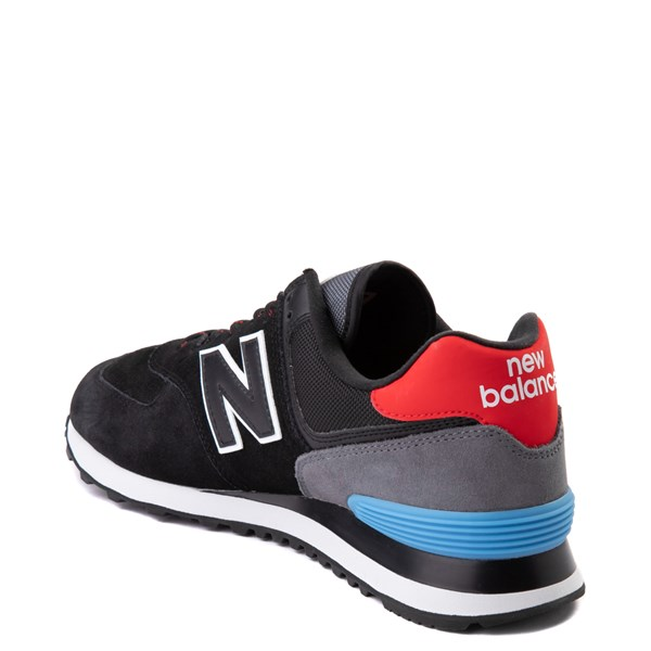 alternate view Mens New Balance 574 Athletic Shoe - Black / Gray / BlueALT2