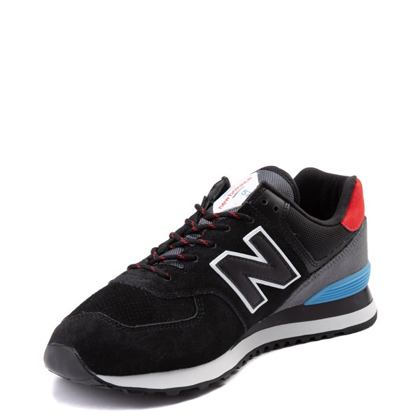 alternate view Mens New Balance 574 Athletic Shoe - Black / Gray / BlueALT3