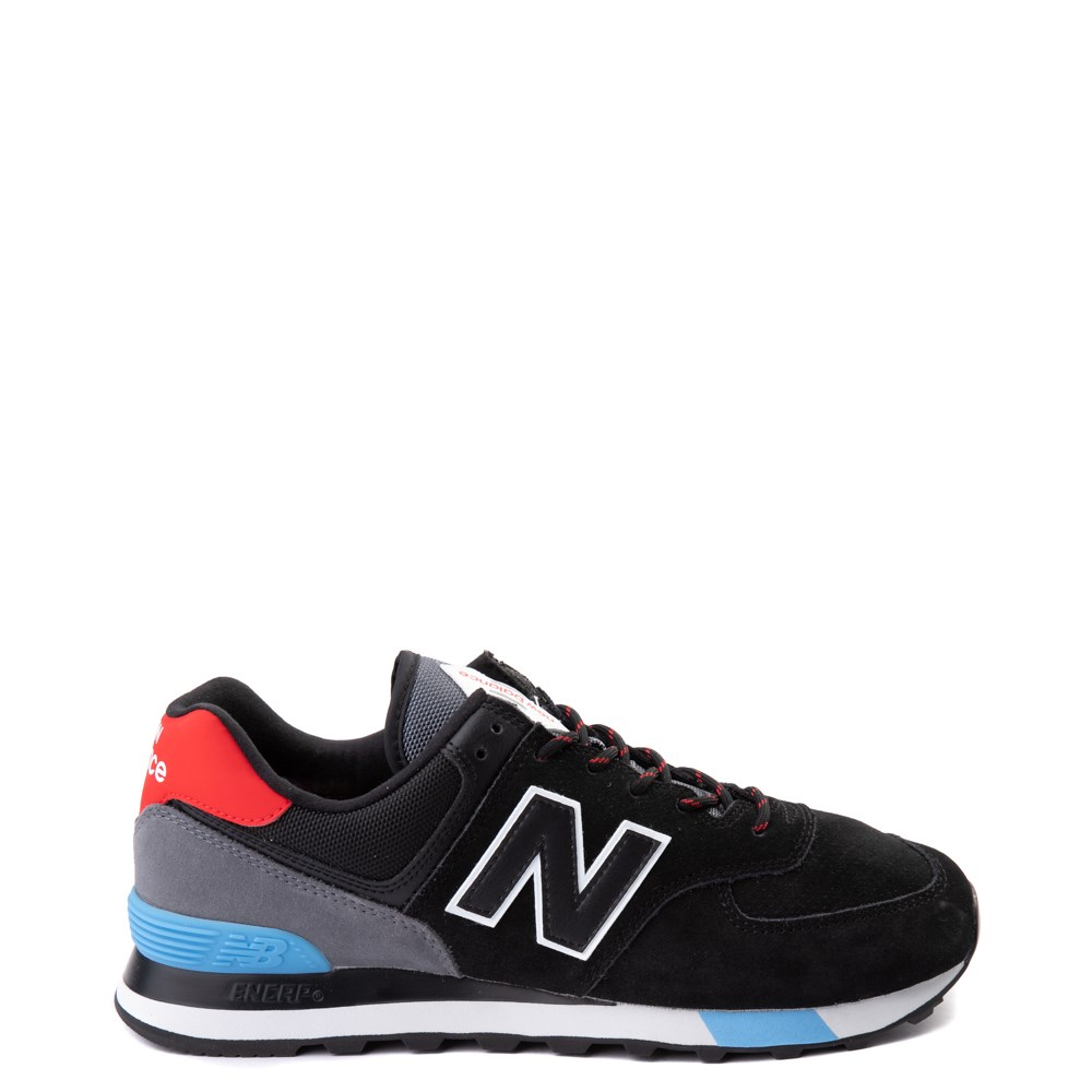 Mens New Balance 574 Athletic Shoe - Black / Gray / Blue
