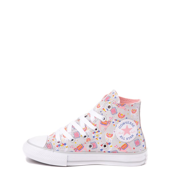Alternate view of Converse Chuck Taylor All Star Hi Llama Sneaker - Little Kid / Big Kid - Gray / Multi
