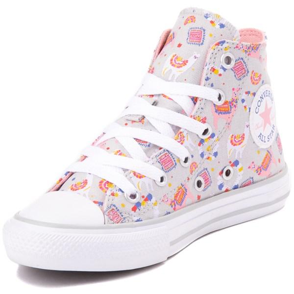 alternate view Converse Chuck Taylor All Star Hi Llama Sneaker - Little Kid / Big Kid - Gray / MultiALT3