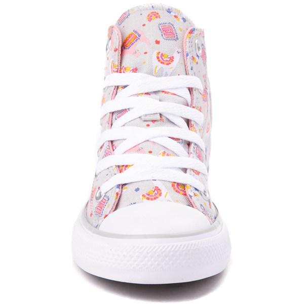 alternate view Converse Chuck Taylor All Star Hi Llama Sneaker - Little Kid / Big Kid - Gray / MultiALT4