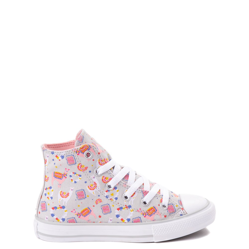 Converse Chuck Taylor All Star Hi Llama Sneaker - Little Kid / Big Kid - Gray / Multi