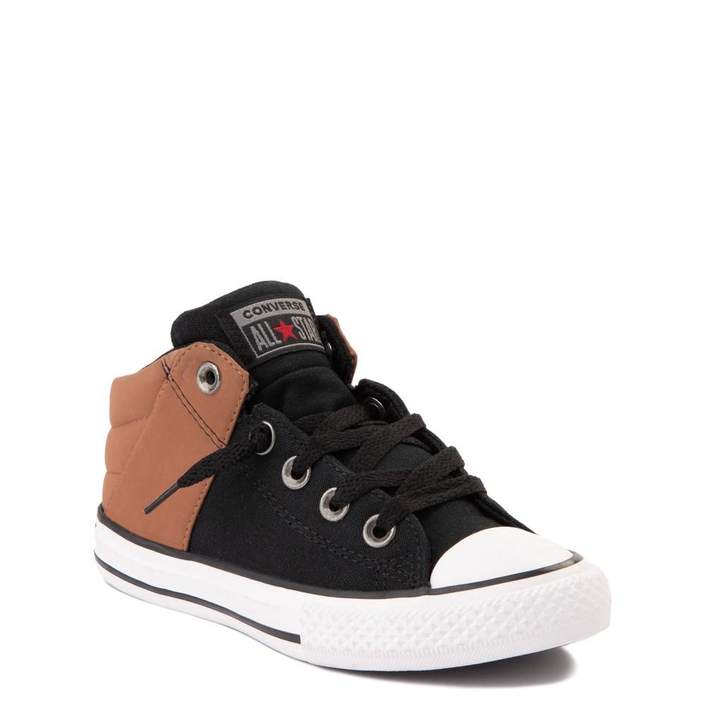 Converse Chuck Taylor All Star Axel Mid Sneaker Little Kid Big Kid Black Tan