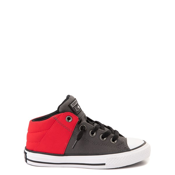 Converse Chuck Taylor All Star Axel Mid Sneaker - Little Kid / Big Kid - Gray / Red