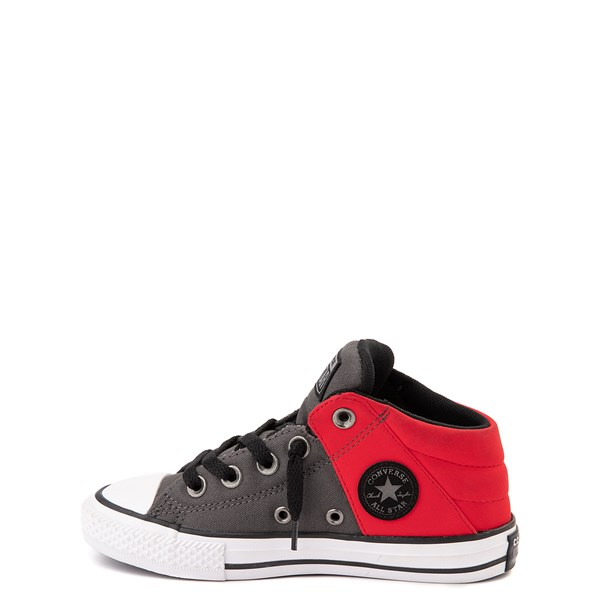Alternate view of Converse Chuck Taylor All Star Axel Mid Sneaker - Little Kid / Big Kid - Gray / Red