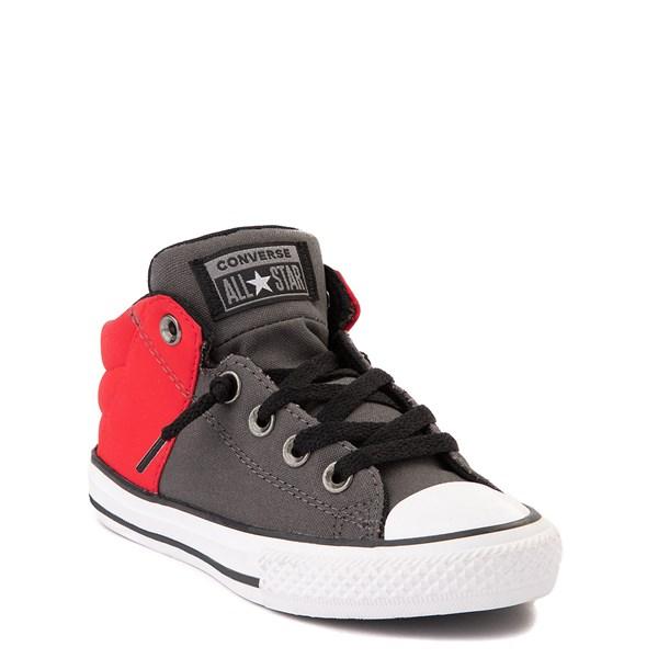 alternate view Converse Chuck Taylor All Star Axel Mid Sneaker - Little Kid / Big Kid - Gray / RedALT1B