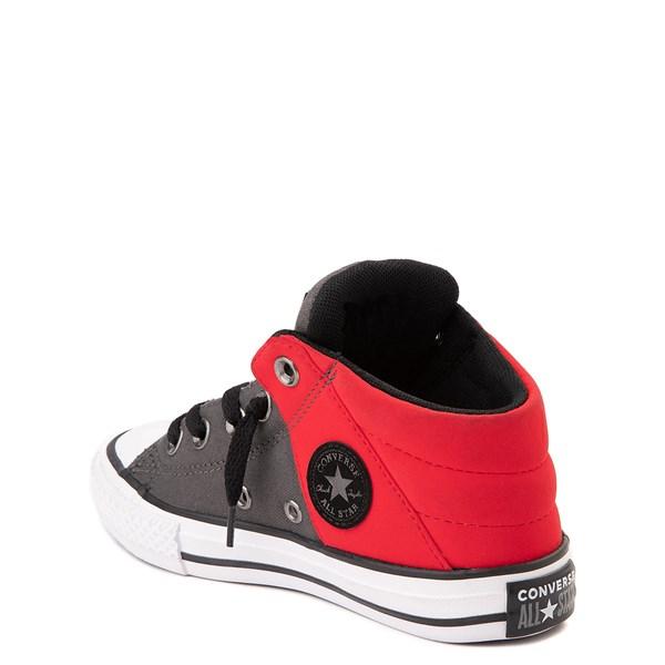 alternate view Converse Chuck Taylor All Star Axel Mid Sneaker - Little Kid / Big Kid - Gray / RedALT2