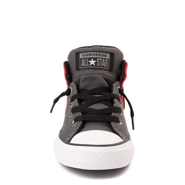 alternate view Converse Chuck Taylor All Star Axel Mid Sneaker - Little Kid / Big Kid - Gray / RedALT4