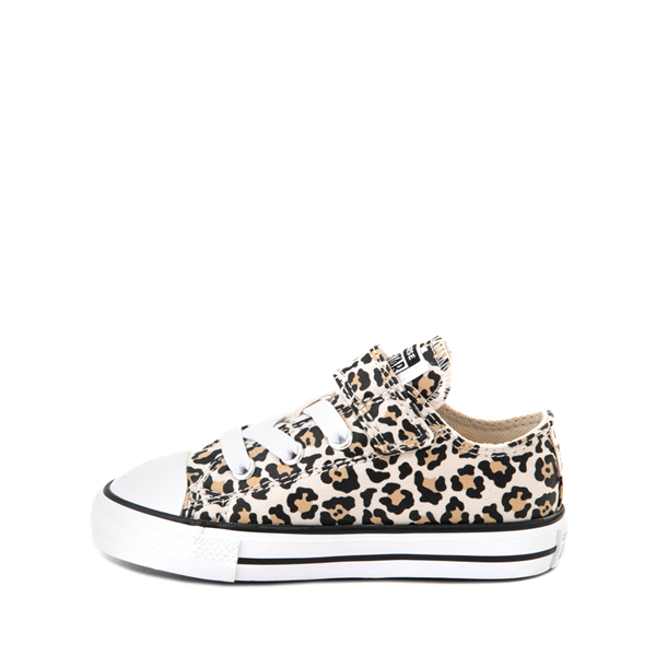 alternate view Converse Chuck Taylor All Star 1V Lo Sneaker - Baby / Toddler - LeopardALT1