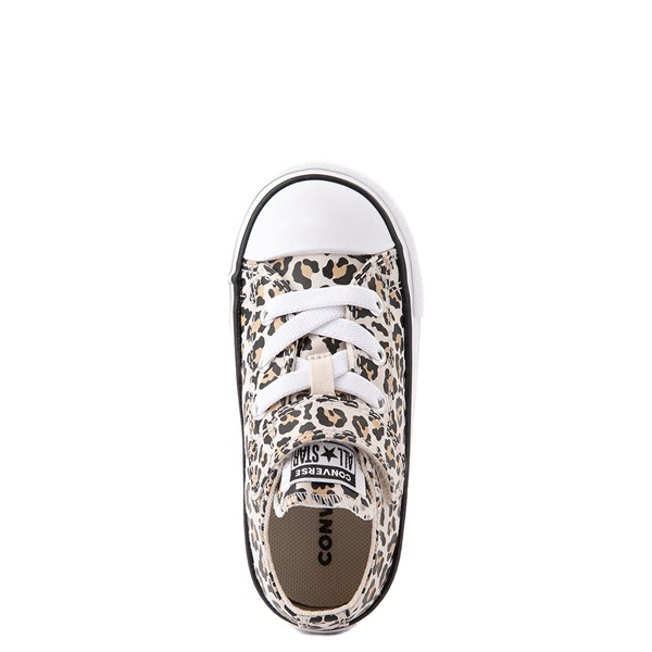 alternate view Converse Chuck Taylor All Star 1V Lo Sneaker - Baby / Toddler - LeopardALT4B