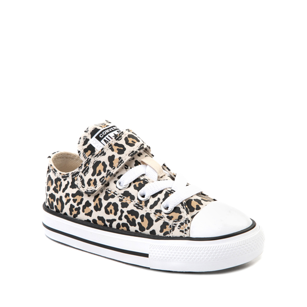 alternate view Converse Chuck Taylor All Star 1V Lo Sneaker - Baby / Toddler - LeopardALT5