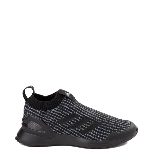 adidas RapidaRun Laceless Athletic Shoe - Little Kid - Core Black