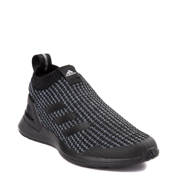 alternate view adidas RapidaRun Laceless Athletic Shoe - Little Kid - Core BlackALT1
