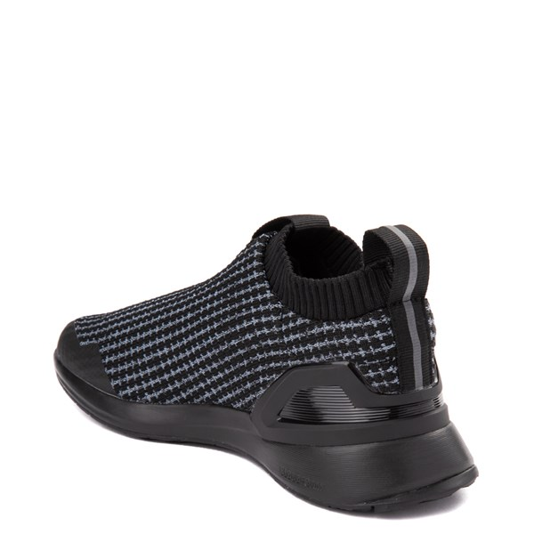 alternate view adidas RapidaRun Laceless Athletic Shoe - Little Kid - Core BlackALT2