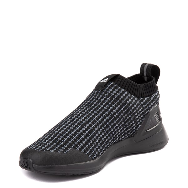 alternate view adidas RapidaRun Laceless Athletic Shoe - Little Kid - Core BlackALT3