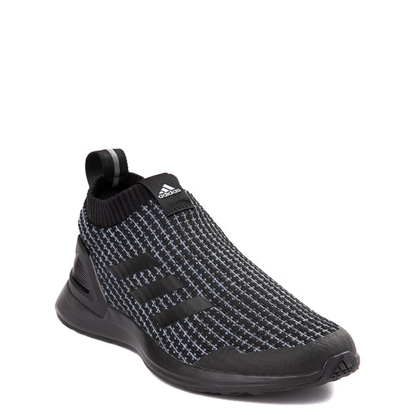 alternate view adidas RapidaRun Laceless Athletic Shoe - Big Kid - Core BlackALT1