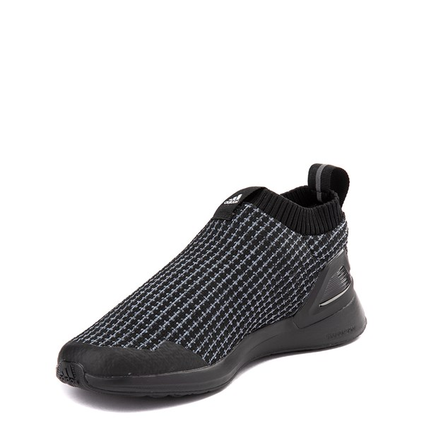 alternate view adidas RapidaRun Laceless Athletic Shoe - Big Kid - Core BlackALT3