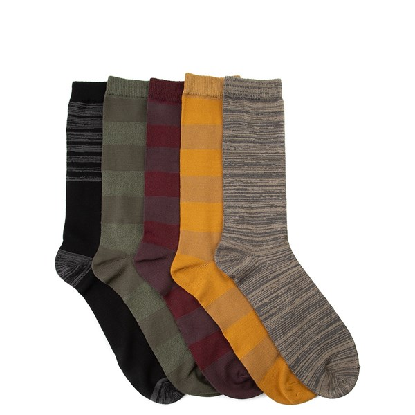 Main view of Mens Super Soft Crew Socks 5 Pack - Multi