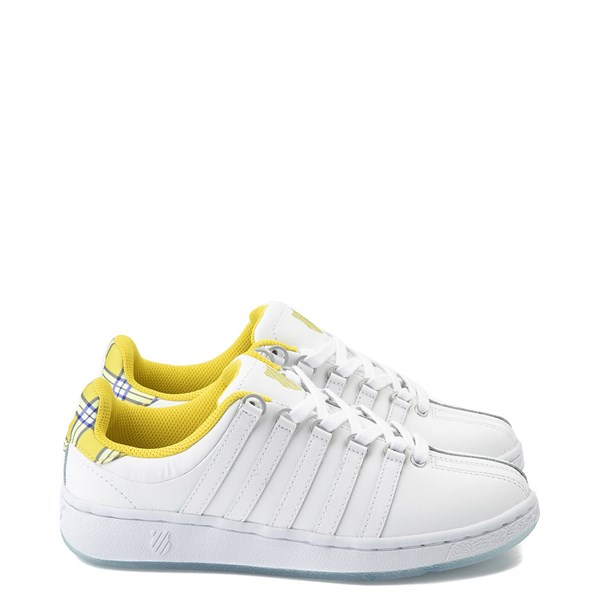 Womens K-Swiss Classic VN Clueless Athletic Shoe - White / Yellow