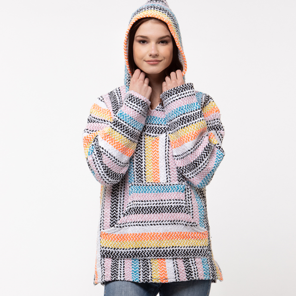 Main view of Womens Baja Poncho - Multicolor