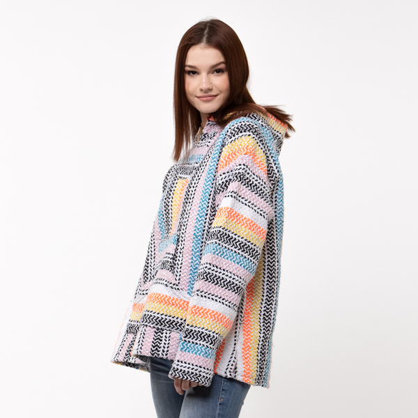 alternate view Womens Baja Poncho - MulticolorALT3