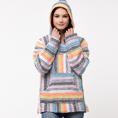 Main view of Womens Baja Poncho - Multi