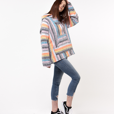 Alternate view of Womens Baja Poncho - Multicolor