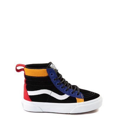 Main view of Vans Sk8 Hi MTE Color-Block Skate Shoe - Little Kid / Big Kid - Black / Multi