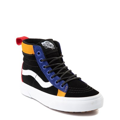 Alternate view of Vans Sk8 Hi MTE Color-Block Skate Shoe - Little Kid / Big Kid - Black / Multi