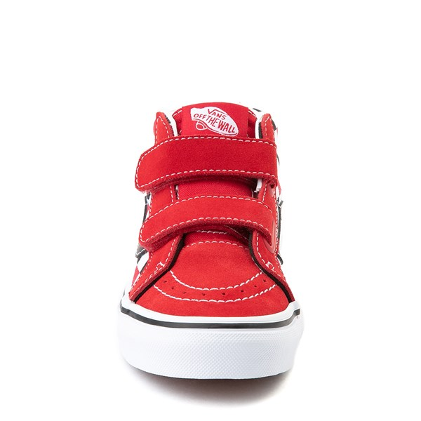 alternate view Vans Sk8 Mid Reissue V Checkerboard Skate Shoe - Little Kid / Big Kid - Red / Black / WhiteALT4