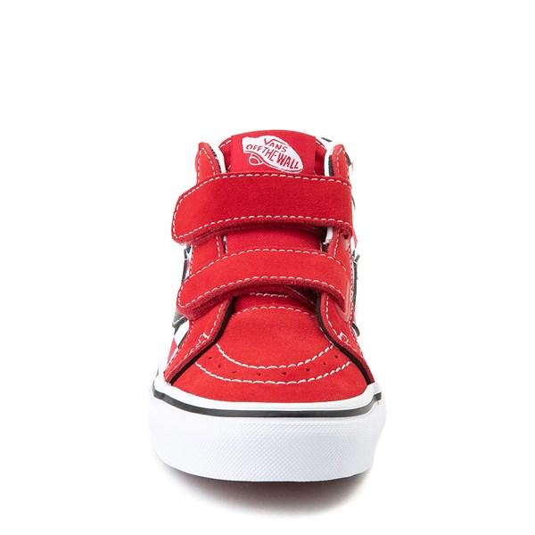 alternate view Vans Sk8 Mid Reissue V Checkerboard Skate Shoe - Little Kid / Big Kid - Red / Black / WhiteALT4