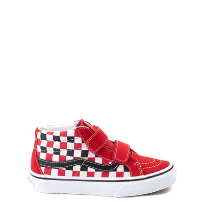 Main view of Vans Sk8 Mid Reissue V Checkerboard Skate Shoe - Little Kid / Big Kid - Red / Black / White
