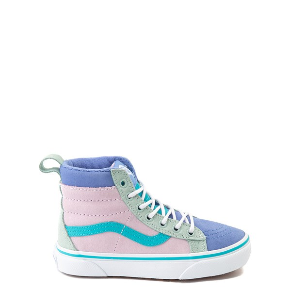Default view of Vans Sk8 Hi MTE Color-Block Skate Shoe - Little Kid / Big Kid - Lilac Snow / Ultramarine