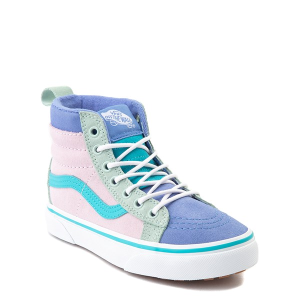 Alternate view of Vans Sk8 Hi MTE Color-Block Skate Shoe - Little Kid / Big Kid - Lilac Snow / Ultramarine