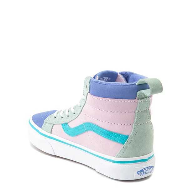 alternate view Vans Sk8 Hi MTE Color-Block Skate Shoe - Little Kid / Big Kid - Lilac Snow / UltramarineALT2