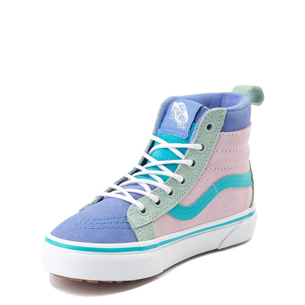 Vans Sk8 Hi MTE Color Block Skate Shoe Little Kid Big Kid Lilac Snow Ultramarine