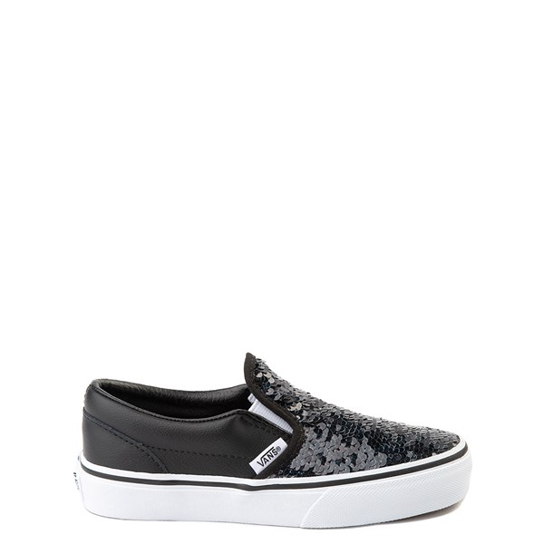 Main view of Vans Slip On Flipping Sequins Skate Shoe - Little Kid / Big Kid - Black / White