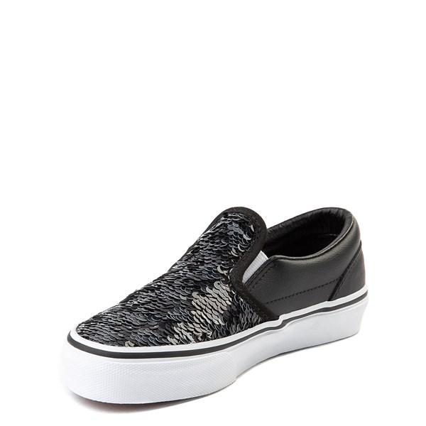 alternate view Vans Slip On Flipping Sequins Skate Shoe - Little Kid / Big Kid - Black / WhiteALT3