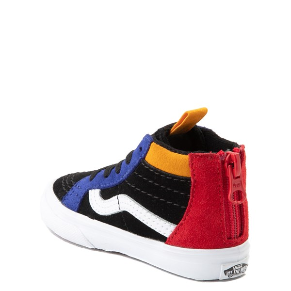 alternate view Vans Sk8 Hi Zip MTE Color-Block Skate Shoe - Baby / Toddler - Black / MultiALT2