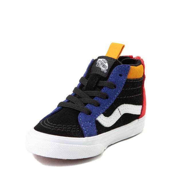 alternate view Vans Sk8 Hi Zip MTE Color-Block Skate Shoe - Baby / Toddler - Black / MultiALT3