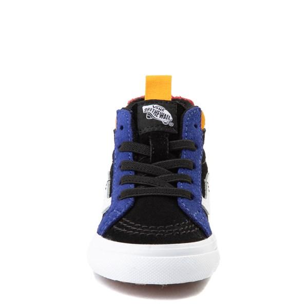 alternate view Vans Sk8 Hi Zip MTE Color-Block Skate Shoe - Baby / Toddler - Black / MultiALT4